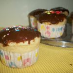 Jam Filled Cupcakes with Chocolate Jam Icing