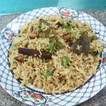 Brinji Rice / Bay Leaf Pulav / Rice Flavoured with Bay Leaf & Coconut Milk