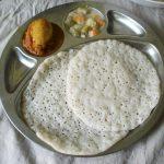 Coconut Milk Appam / Palappam / Vellayappam – Kerala Breakfast Thali