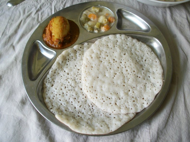 Coconut milk appam palappam vellayappam kerala for Appam and chicken stew kerala cuisine