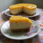 Eggless Mango Cheese Cake ( No Bake, No Cream Cheese, No SpringForm Pan, No Eggs) – Celebrating my 600th Post