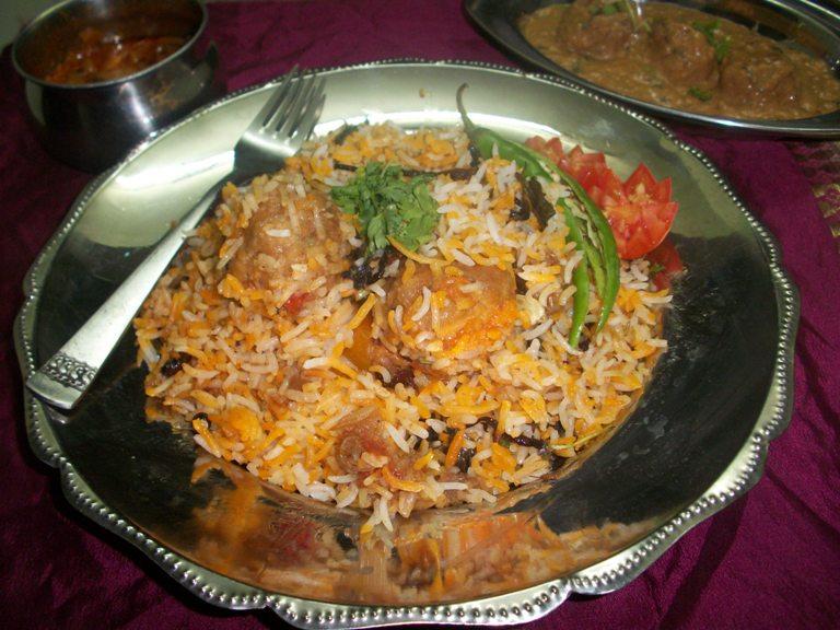 Chicken Kofta Biryani / Murg Kofta Biryani / Flavoured Rice with MeatBalls