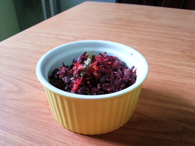 Beetroot Stir Fry with Coconut – Microwave Cooking Recipes