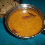 Sweet and Sour Dal / Khatti Meethi Dal / Toor Dal Cooked with Tamarind, Jaggery & Spices