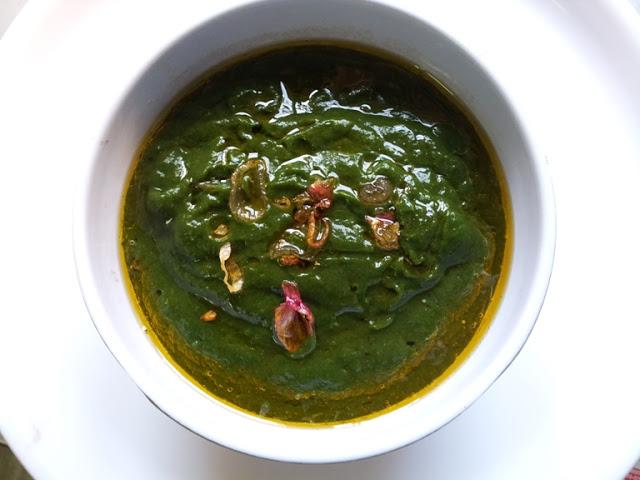 கீரை மசியல் / Keerai Masiyal ( Kadayal) / Seasoned Pureed Spinach – Combo with Hot Rice