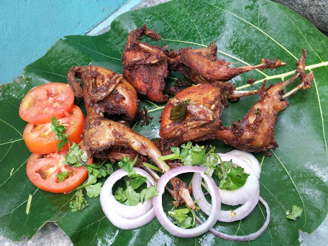 காடை வறுவல் / Kaada Fry / Quail Fry / Deep Fried Masala Coated Quail