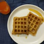 Eggless Waffles with Whole Wheat Flour