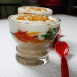 Breakfast Parfait with Vanilla Oatmeal, Spiced Caramalized Pineapples & Vanilla Yoghurt