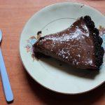 No Bake Chocolate Cherry Tart with Oreo Crust