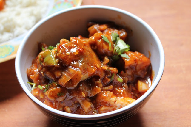 Fish Manchurian – Gravy Version