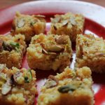 Kesar Kalakand / Cottage Cheese Bars infused with Saffron & Cardamom – Diwali Special Recipes