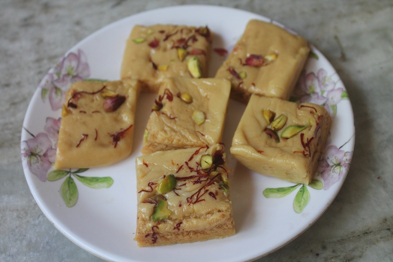 7 Cup Burfi (Barfi) – 7 Cup Cake – Diwali Special Recipes