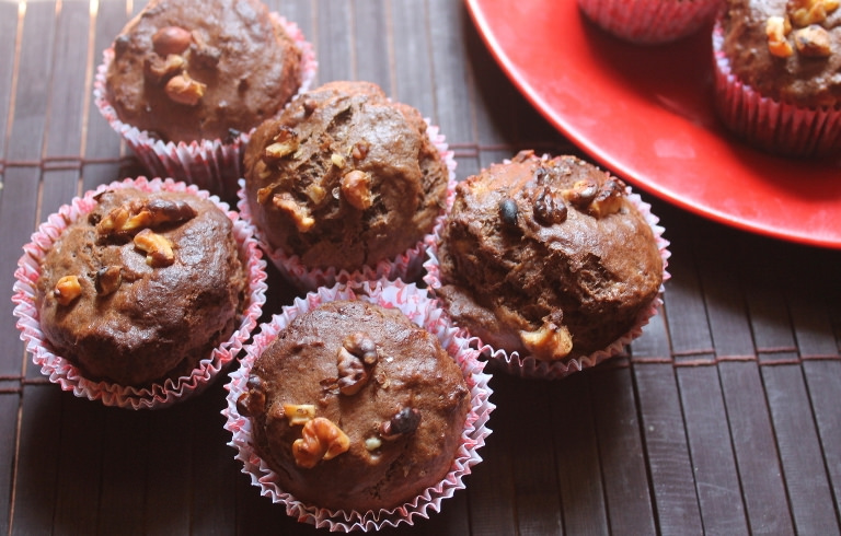 Nigella Lawson's Chocolate Banana Muffins