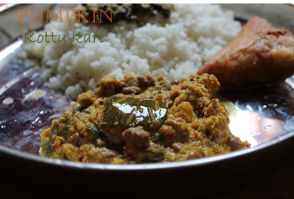 Poosanikai Kootu Kari / Pumpkin & Cowpeas Curry / Pumpkin & Cowpeas Cooked in Spicy Coconut Sauce