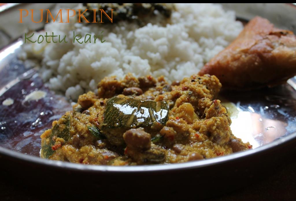 Poosanikai Kootu Kari / Pumpkin & Cowpeas Curry / Pumpkin & Cowpeas Cooked in Spicy Coconut Sauce