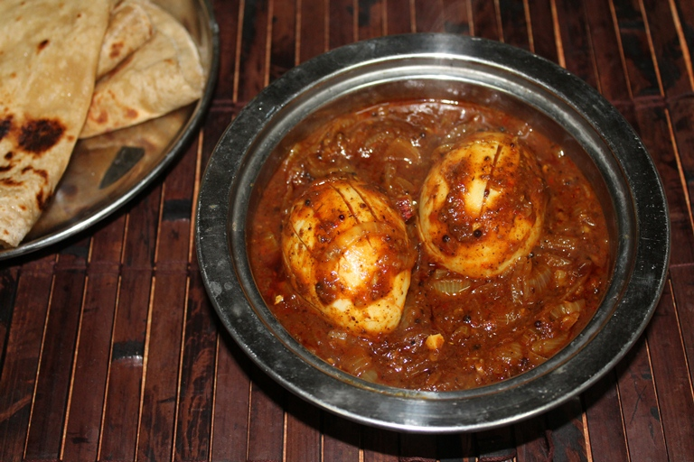 Chettinad Egg Curry Eggs Cooked In A Spicy Roasted Masala Gravy