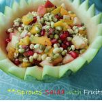 Healthy Moong Sprouts Salad with Apple, Mango & Pomegranate