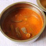 Amma's Pulikulambu with Brinjal, Drumstick & Onions