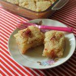 Eggless Coconut Basbousa / Egyptian Coconut Semolina Cake