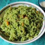 Green Vegetable Biryani / Biryani Cooked in a Coconut & Coriander Masala