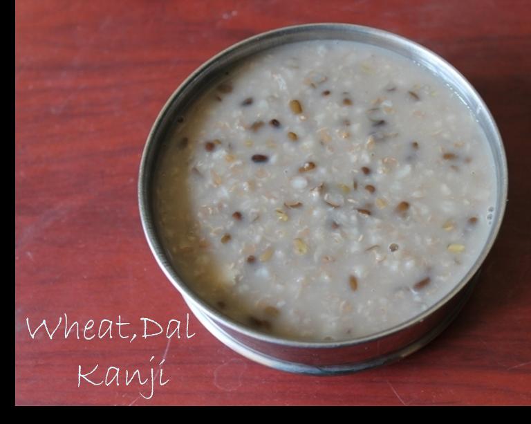 Gothumai Ulundu Kanji / Wheat Dal Kanji – Diabetics Special Recipes