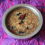 Grandma's Chutta Kathirikai Kotsu / Smoked Eggplant & Chillies Cooked in a Tangy Tamarind Sauce – Zero Oil Recipes