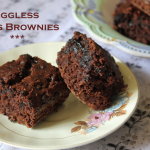 Eggless Oats Brownies using Whole Wheat Flour