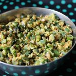 Amma's Vendakkai Thoran / Ladysfinger (Okra) Cooked in a Spicy Dry Coconut Masala
