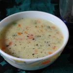 Veg Milk Soup / Vegetable Milk Soup / Creamy Vegetable Soup with Milk