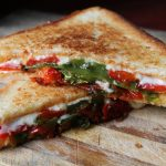 Grilled Cheese Sandwich with  Roasted Peppers & Tomatoes