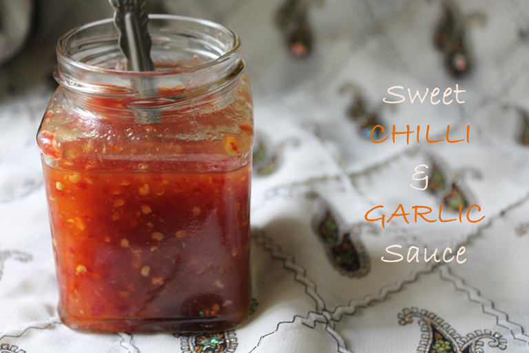 Thai Sweet Chilli & Garlic Sauce / Thai Sweet Chilli Sauce / Homemade Sweet Chilli Sauce