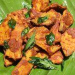 Elephant Yam Fry / Spicy Masala Coated Yam Fry / Senaikizhangu (Chenakilangu) Roast