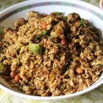 Vangi Bhath / Vangi Bath / Brinjal Rice / Spiced Up Brinjal (Eggplant) Rice / Homemade Vangi Bhath Powder