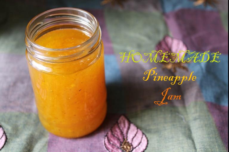 Homemade Pineapple Jam – No Preservatives