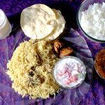 Lunch Menu 3 – Chicken Biryani, Chciken Fry, Onion Raita, Rasam & Badam Kheer
