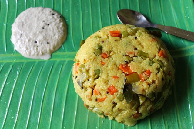 Vegetable Rava Upma / Sooji (Suji) Upma / Rava Kichadi / Sooji Kichadi – Breakfast Recipes