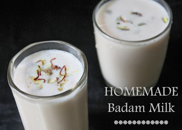 Badam Milk / Badam Kheer / Almond Saffron Milk / Almond Drink – Welcome Drink Ideas