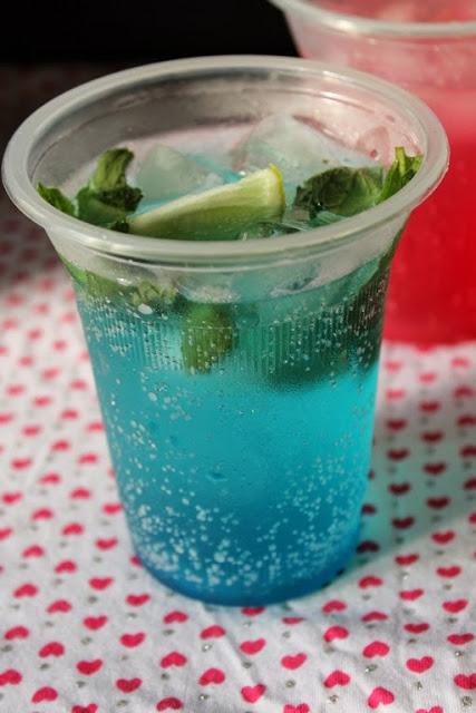 Blue Curacao Mocktail Blue Curacao Sparkling Mocktail