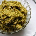 Amma's Kothamalli Thovaiyal (Thogayal) / Thick Coriander Chutney / Cilantro Chutney Using Coconut