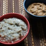 Ulundu Kanji & Thengai Kothamalli Thogayal / Rice & Urad Dal Porridge with Coconut & Coriander Seed Chutney – Rice Cooker Recipes