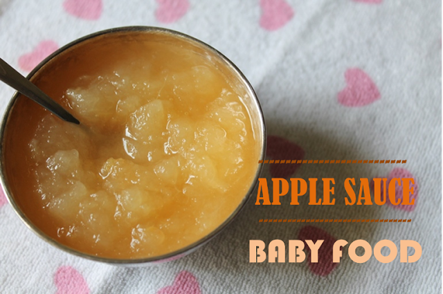 Apple Sauce for Baby / Apple Puree / Pureed Apple / Mashed Apples / Apples for Babies – Baby Food Recipes / 5 Month Baby Food
