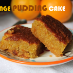 Eggless Moist Orange Pudding Cake – Welcome 2014
