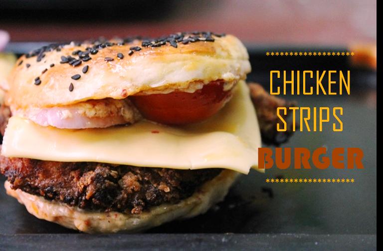 Chicken Strips Burger Recipes / Chicken Strips Recipe / Fried Chicken Strips Recipe / Homemade Chicken Strips