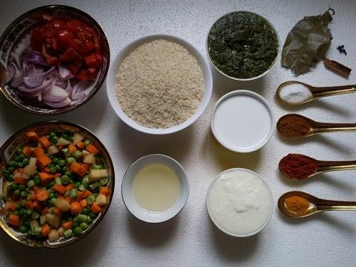 Simple easy vegetable biryani recipe vegetable biryani recipe take all your ingredients forumfinder Images