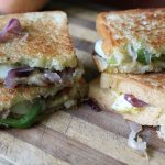 Egg Sandwich Recipe / Egg, Caramelized Onion, Cheese Sandwich Recipe / Grilled Cheese Sandwich with Caramelized Onion & Eggs