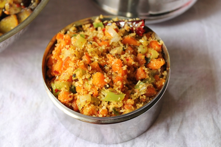 Carrot & Spring Onion Thoran