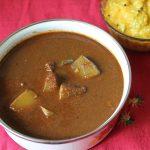 Pumpkin Theeyal / Amma's Poosanikai Theeyal / Pumpkin Cooked in a Roasted Coconut Gravy