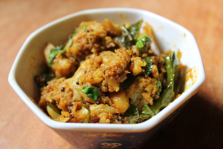 Cauliflower poriyal recipe south indian gobi poriyal fry yummy cauliflower poriyal recipe south indian gobi poriyal fry forumfinder Images