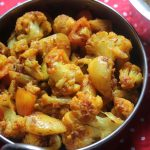 Aloo Gobi Recipe / Dry Aloo Gobi Recipe / Aloo Gobi Fry Recipe – Side Dish for Rice