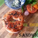 Veggie Cheese Bagel Recipe / Veg & Cheese Bagel Sandwich Recipe